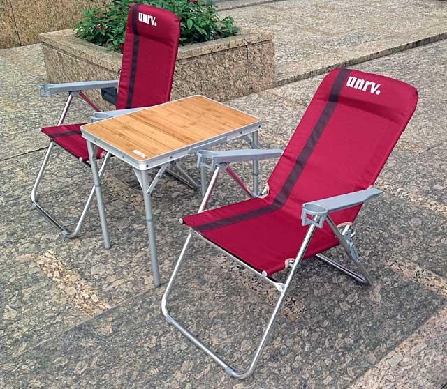 UNRV 三段躺椅 粉紅佳人折疊椅兩張加送收納袋 EA0034-dual [阿爾卑斯戶外/露營]