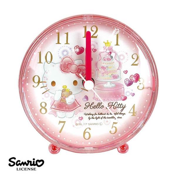 【日本正版】凱蒂貓 Hello Kitty 三麗鷗系列 鬧鐘 造型鐘 指針時鐘 Sanrio - 060405