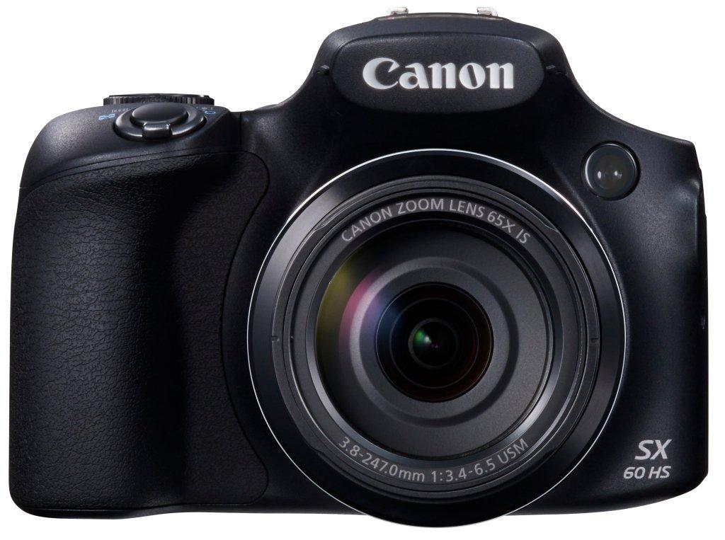 Canon Powershot SX60 16.1MP Digital Camera 65x Optical Zoom Lens 3-inch LCD Tilt Screen (Black) 0