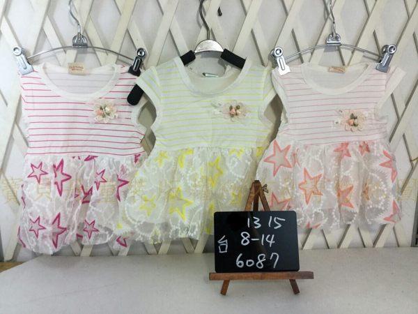 ☆╮寶貝丹童裝╭☆ 台灣製造 淑女 可愛 條紋 星星 圖案 女童 經典款 洋裝 新款 現貨 ☆