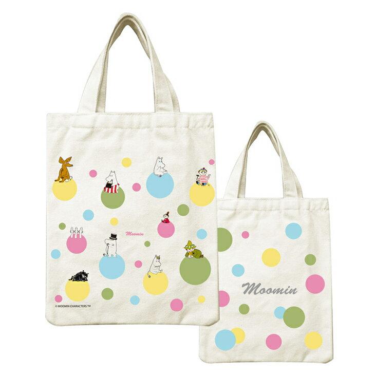 Moomin嚕嚕米正版授權 - 帆布包:【 彩虹泡泡 】