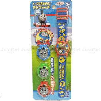 湯瑪士小火車 THOMAS 手錶 玩具手錶 兒童錶 電子錶 玩具 正版日本進口 限定販售 * JustGirl *