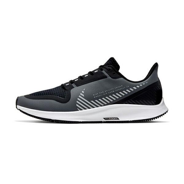 【NIKE】AIR ZOOM PEGASUS 36 SHIELD 運動鞋 慢跑鞋 反光 防潑水  黑灰 男鞋 -AQ8005003
