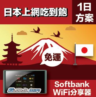 租借日本 WiFi分享器 4G 吃到飽+送透明護照套