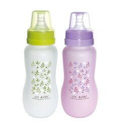 【US Baby 優生】 真母感特護玻璃奶瓶(一般口徑240ml-綠/紫)