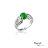 大東山珠寶 簍空蝶漾 天然緬甸正陽綠A貨翡翠 頂級真鑽18K白金戒 2