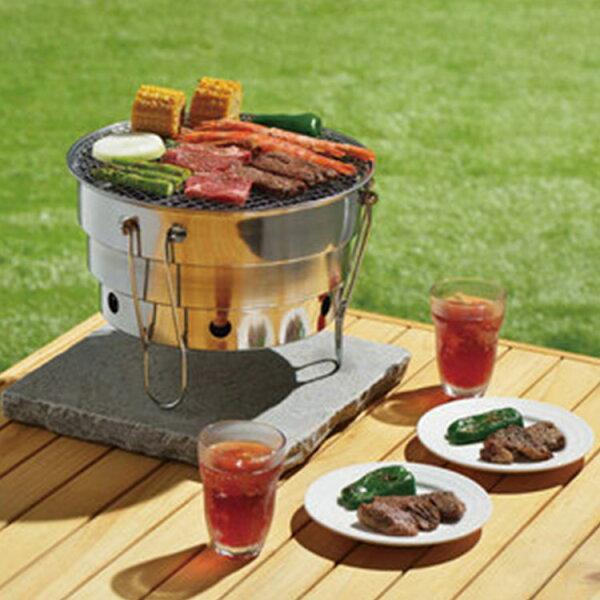 77美妝:日本CAMELWILL組合式烤盤烤架露營用(附提袋)