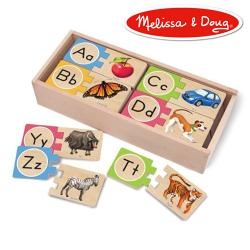 美國瑪莉莎 Melissa & Doug 益智 英文對照學習拼圖卡