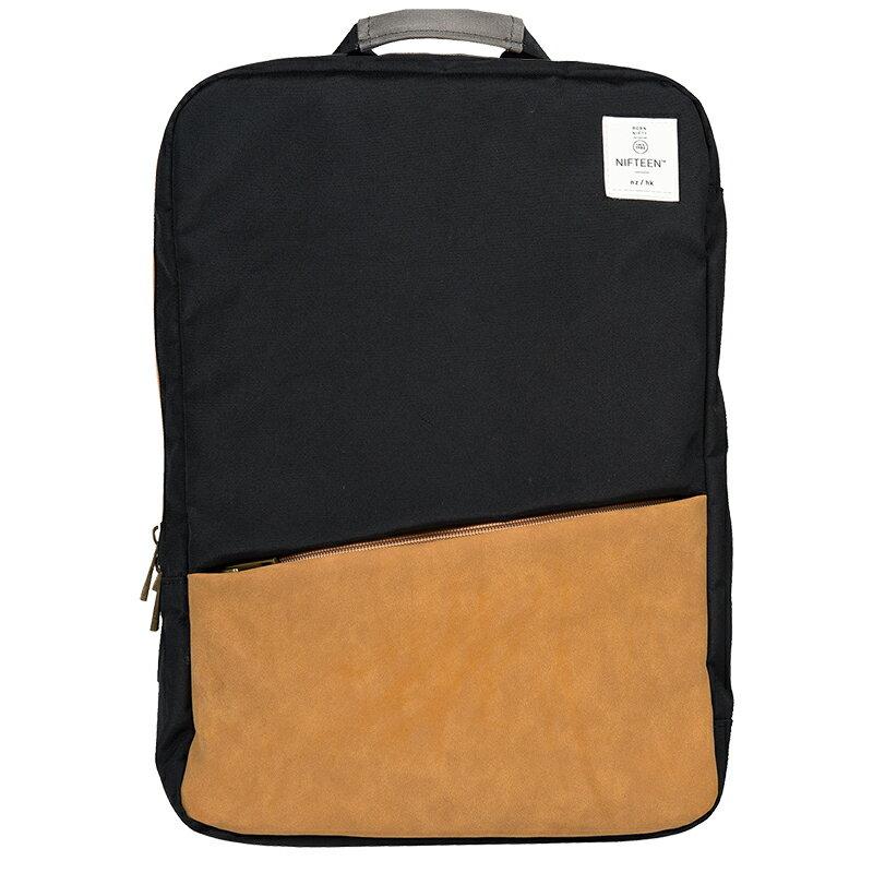 NIFTEEN 15吋防潑水大容量多功能後背包-黑色