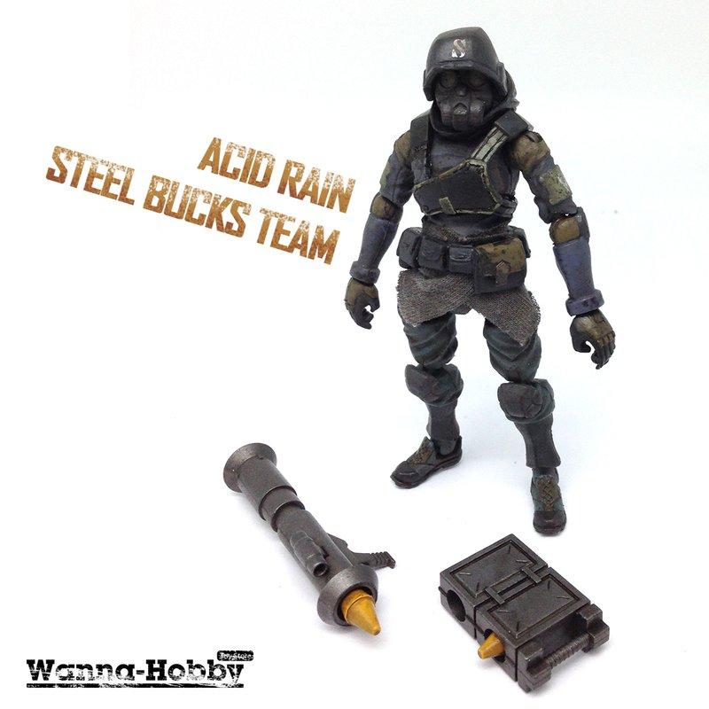 ◆時光殺手玩具館◆ 現貨 公仔 3.75吋 酸雨戰爭 公鹿小隊 BUCKS TEAM 火箭兵 STEEL