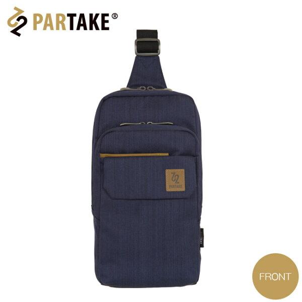 【加賀皮件】PartakeB3銀座系列特多龍Tetoron透氣掀蓋雙拉鍊雙主袋肩背包單肩背包B3-82