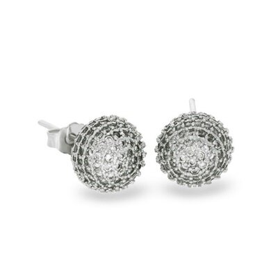 925純銀耳環鑲鑽耳飾~精緻小巧 情人節 女飾品6款73dm110~ ~~米蘭 ~