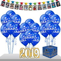 Party City Blue Graduation Gift Table and Sign-In Kit, Includes Card Holder