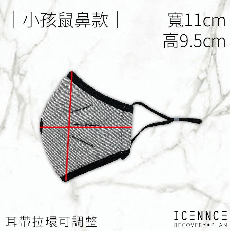 【沐水堂】ICENNCE 奈米鋅抗菌抑臭6層布口罩 (一入/袋)