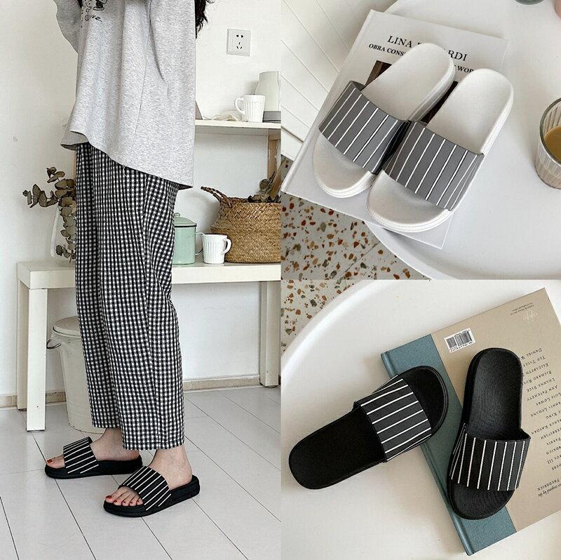 11.11 北歐風ins室內居家防滑拖鞋時尚簡約條紋
