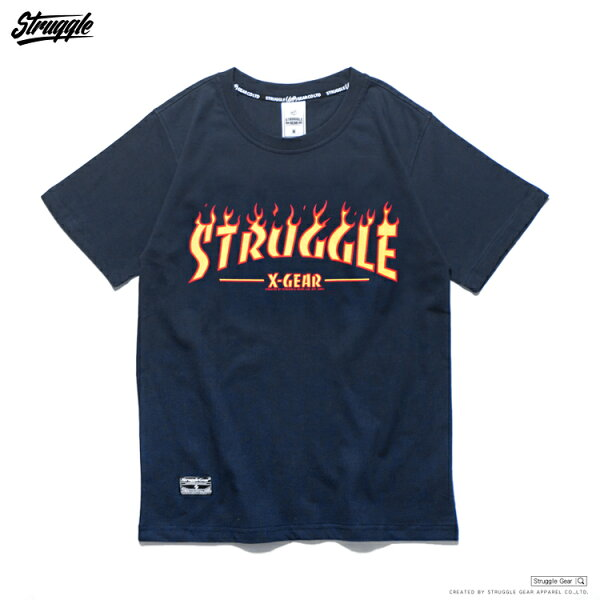 【StruggleGear】火焰LOGO T「丈青」FLAME STRUGGLE TEE 81625