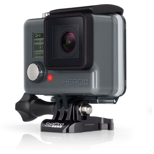 GoPro HERO+ CHDHB-101 Digital Camcorder - Touchscreen LCD - Full HD - 16:9 - H.264, MP4 - USB - microSD, microSDXC, microSDHC - Memory Card - Adhesive Mount 0