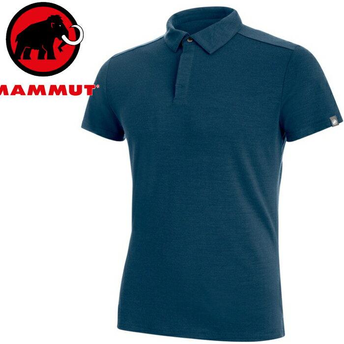 Mammut 長毛象 羊毛POLO衫/排汗衣/運動polo Alvra Polo 男款 1017-00010 50011 冠鴉藍