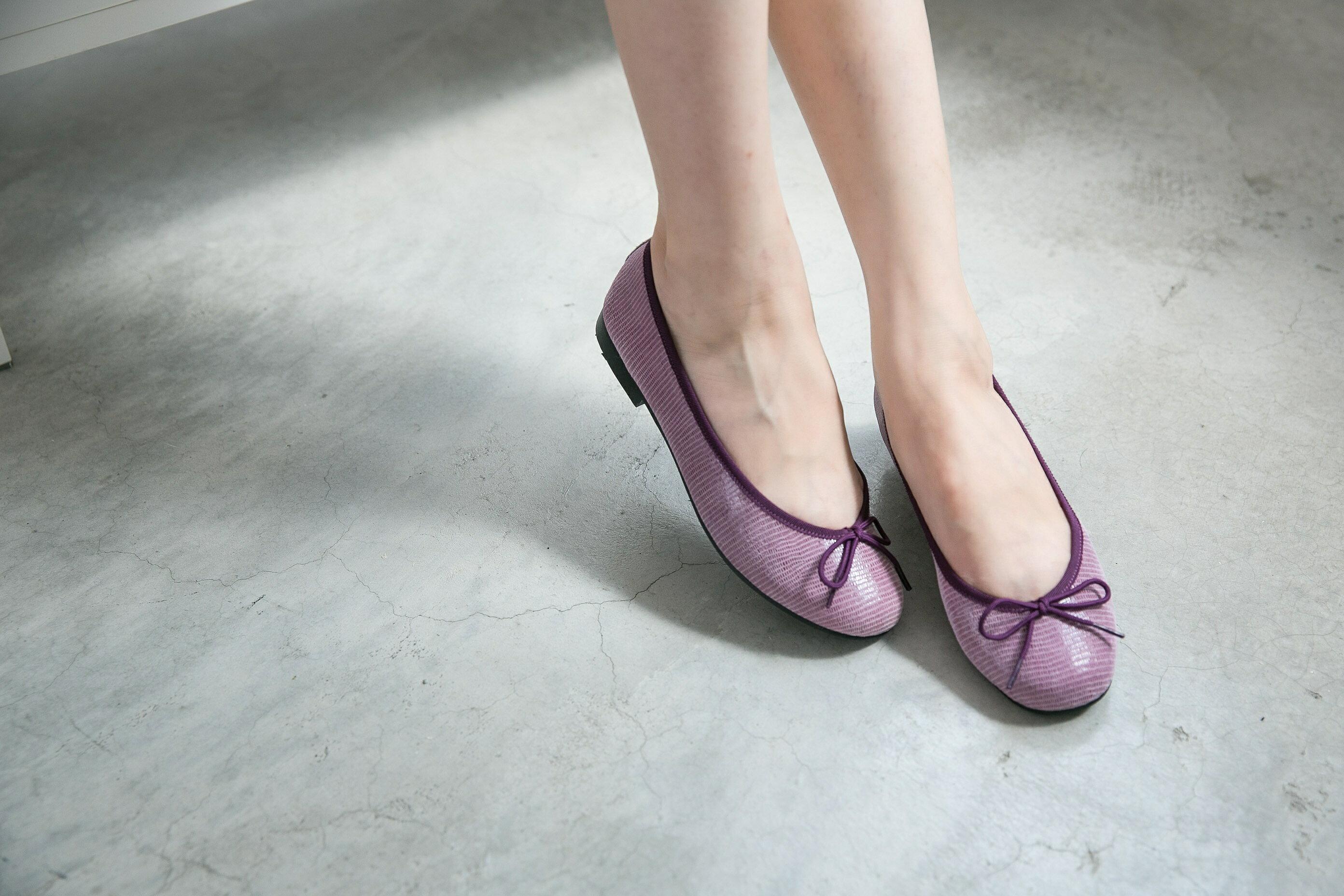 Aimez La Vie 經典芭蕾舞真皮平底娃娃鞋-動物蜥蜴紋系列(共三色) 3
