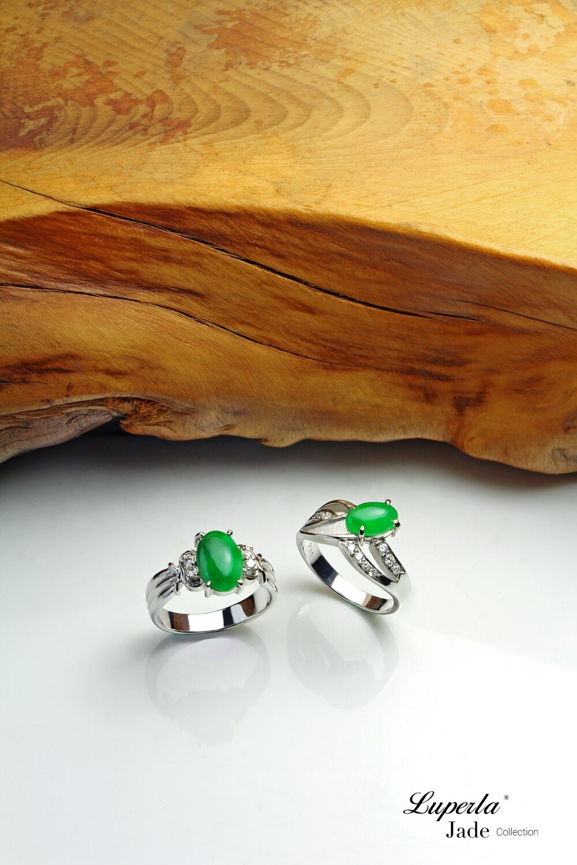 大東山珠寶 星星奇蹟 天然緬甸正陽綠A貨翡翠 頂級真鑽18K白金戒 5
