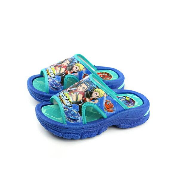 戰鬥陀螺拖鞋防水雨天藍色中童童鞋BEKS75706no628