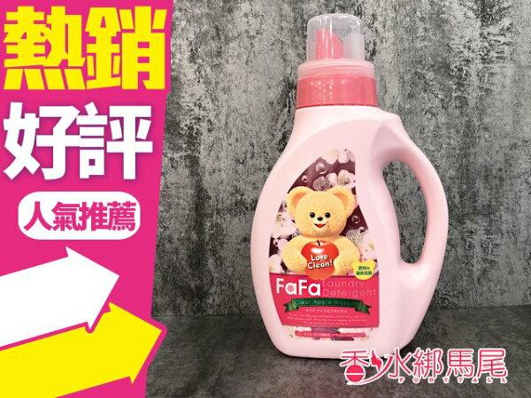Nissan小熊蘋果香洗衣精1kg日本製◐香水綁馬尾◐