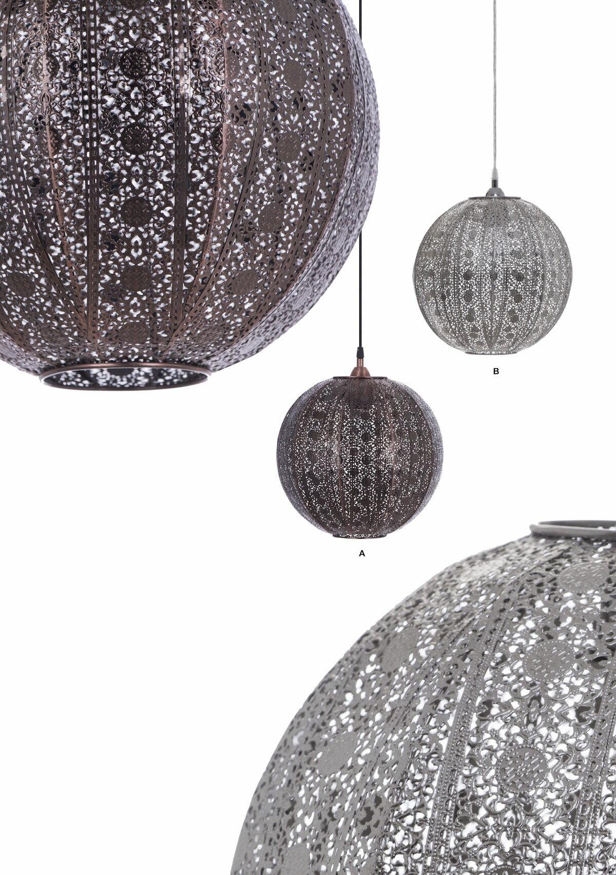 亮鎳蕾絲花邊圓形吊燈-BNL00076 6