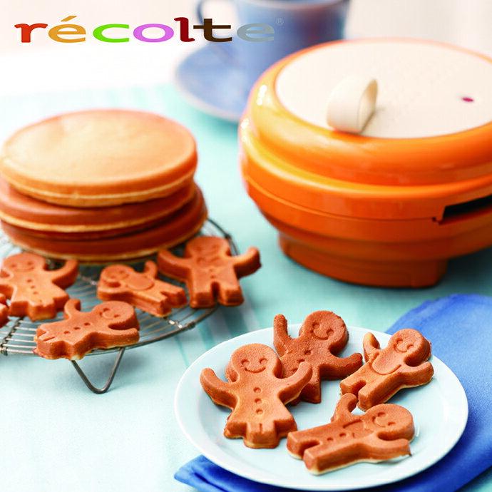 recolte 日本麗克特 Smile Baker 微笑鬆餅機【台灣公司貨】-橘色+可加購其他精緻烤盤