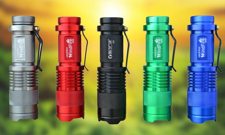 ~露營趣~中和 美國 CREE Q5 350流明 LED鋁合金手電筒 強光手電筒 戰術手電
