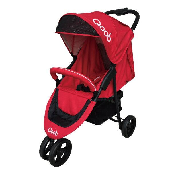 『121婦嬰用品館』法國Qoob 3S三輪嬰幼兒手推車 - 櫻花紅