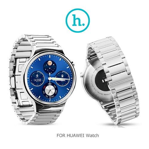 【愛瘋潮】hoco HUAWEI Watch 格朗錶帶三珠款 ( 22mm 錶扣均適用) / 銀色
