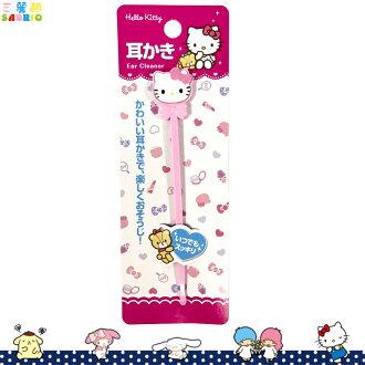 三麗鷗 凱蒂貓 Hello Kitty 耳扒 挖耳朵 掏耳朵 挖耳棒 粉 耳垢 清潔 日本進口正版 576680