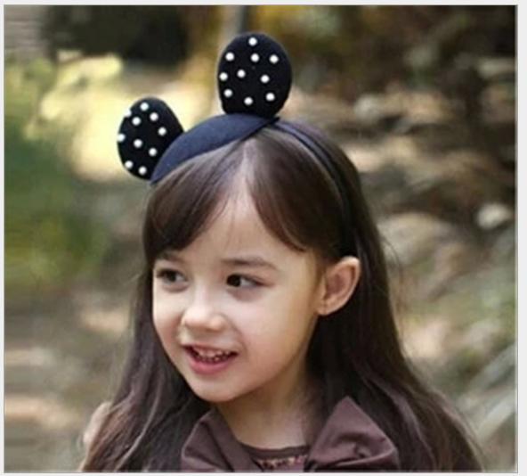 女童 珍珠米奇造型女童髮箍$69 1
