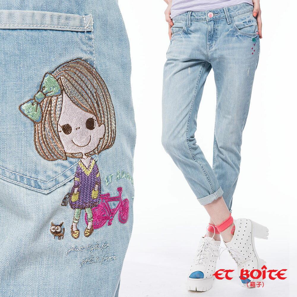 【8折限定↘】ET BOiTE 箱子  ET Amour 單車娃娃男友褲 - 限時優惠好康折扣