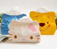 凱蒂貓週邊商品推薦到tangyizi輕鬆購【DS039】hello kitty小熊維尼多拉A夢面紙套皮革套車用家用辦公室可愛擺設創意家居(預購款10天)
