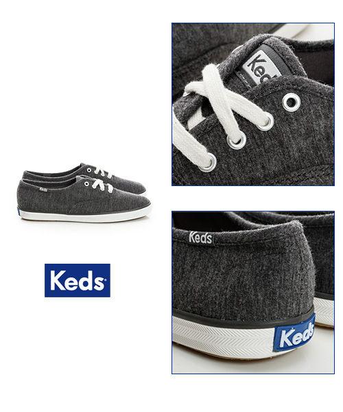Keds 復古運動綁帶休閒鞋-深灰(限量) 套入式│懶人鞋│平底鞋│綁帶 4