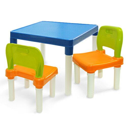 WallyFun 可愛兒童學習遊戲桌椅組(一桌二椅)