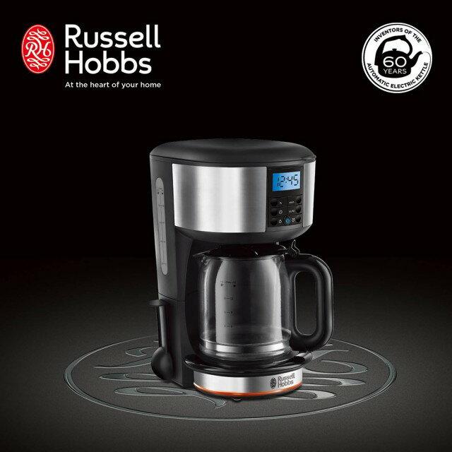 【領券85折】Russell Hobbs 英國羅素 60週年 Legacy 晶亮咖啡機 (20681TW-晶亮銀)