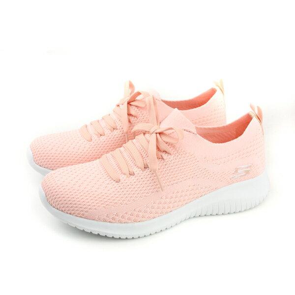 SKECHERS運動鞋休閒鞋針織女鞋粉色12841LTPKno807
