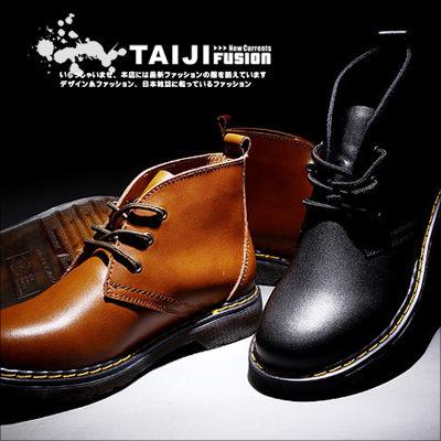 TAIJI【NTJB6225】日韓風格精細整工透明牛津底綁帶平底靴二色帆布高筒增高工作★