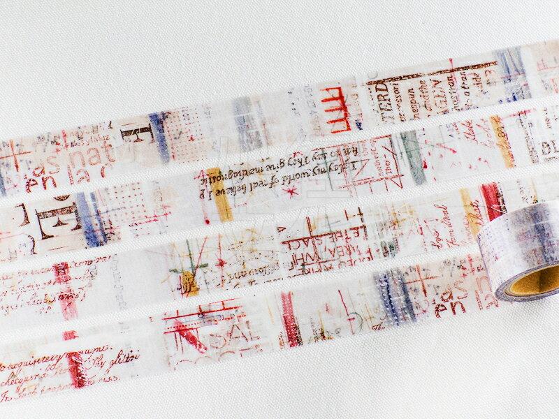 *小徑文化* | 台灣原創 | 日本進口和紙膠帶 小徑 X 夏米花園 8th. 韶光荏苒 系列  - WATER ( MTW-CH086 )