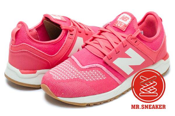 ☆Mr.Sneaker☆NEWBALANCE247襪套雪花針織編織WRL247TF粉色女版