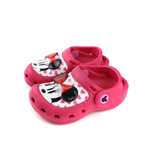 迪士尼米妮涼鞋前包式童鞋桃紅色中童D118308no100