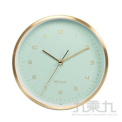KINYO香檳金桌掛鬧鐘(綠) ACK-7112G