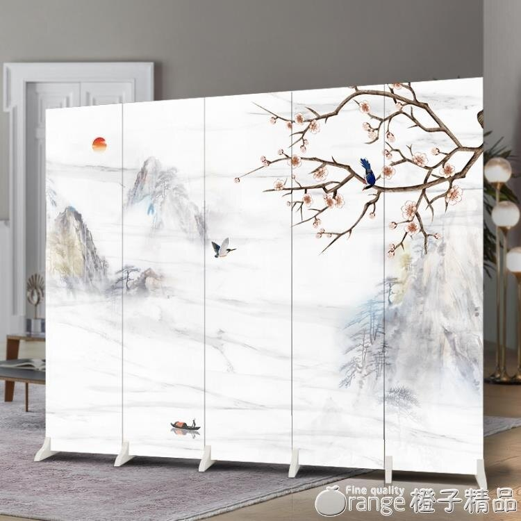 中式屏風隔斷客廳裝飾行動折疊簡約現代辦公室牆簡易臥室遮擋家用