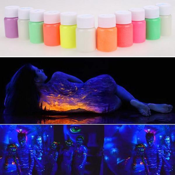 UV Glow Neon Body Paint Pigment 20ml and Fluorescent Super Bright 1