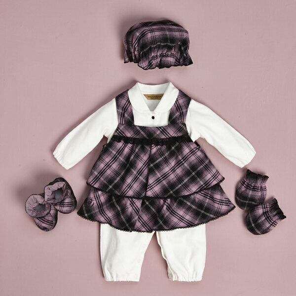 【金安德森】寶寶禮盒 - 蕾絲花邊背心裙套裝 (彌月禮盒)