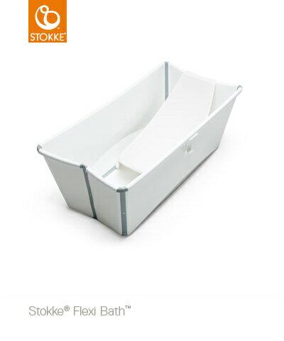 【特惠組】Stokke Flexi Bath 摺疊式嬰幼兒浴盆+浴盆架 2
