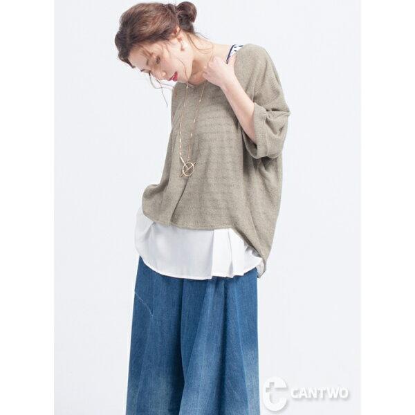CANTWO鏤空粉彩兩件式上衣(共三色)