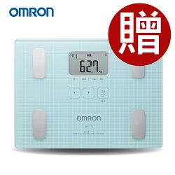 OMRON 歐姆龍體脂計 HBF-216(藍色)-(贈BMI捲尺+專用酷黑提袋)HBF-212進階版